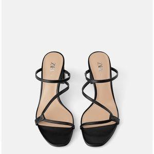 Zara Shoes - Zara Heeled Mules Size 37